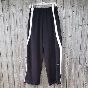 Jordan black and white track pants mens size XL